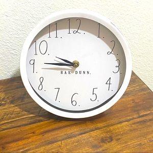 NWT Rae Dunn White Desk Clock